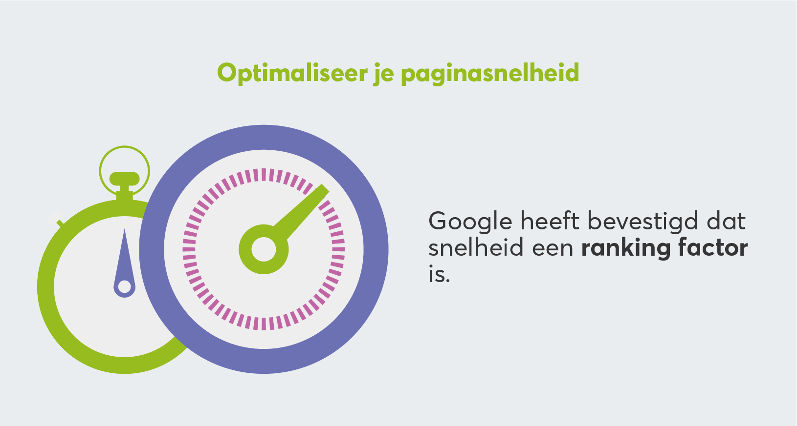 stopwatch illustratie illustreert Belang optimalisatie website snelheid voor SEO